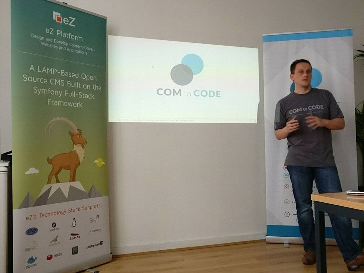 Retour sur les meetups eZ / Com to Code